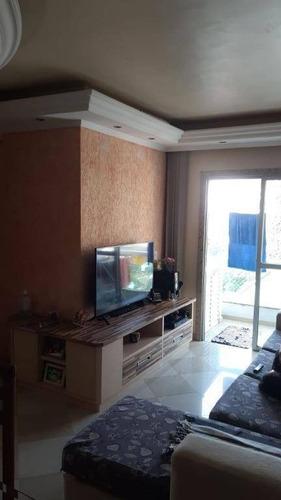 Apartamento Com 2 Dormitórios À Venda, 70 M² Por R$ 280.000,00 - Alves Dias - São Bernardo Do Campo/sp - Ap3246