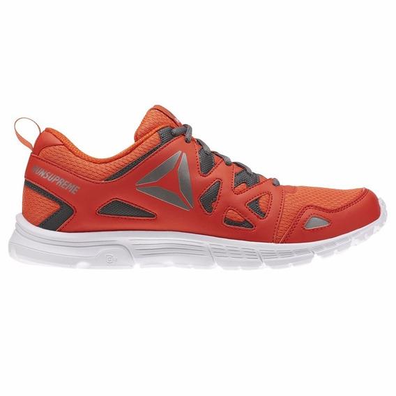 Reebok Tenis Run Supreme, Color Naranja/negro