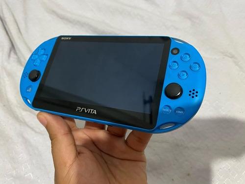 Ps Vita Azul + 2 Jogos Originais - Adeh Black Friday