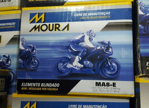 Bateria Para Moto Moura Ma8-e 12v 8ah