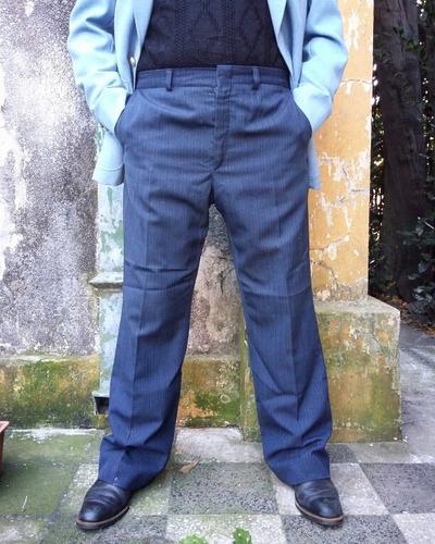 Pantalón De Vestir Azul - Feria 2030