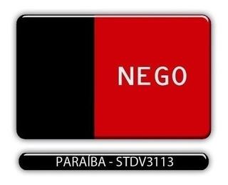 Adesivo Automotivo Bandeira Estado Paraiba Resinado