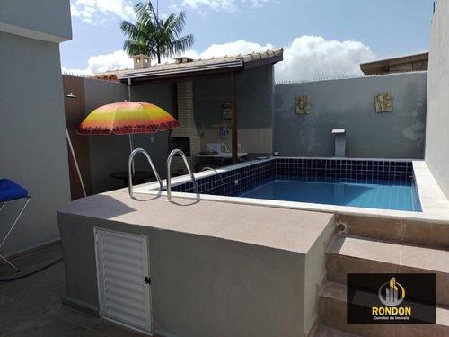 Casa Com 2 Dormitórios À Venda, 75 M² Por R$ 279.000,00 - Cibratel Ii - Itanhaém/sp - Ca1195