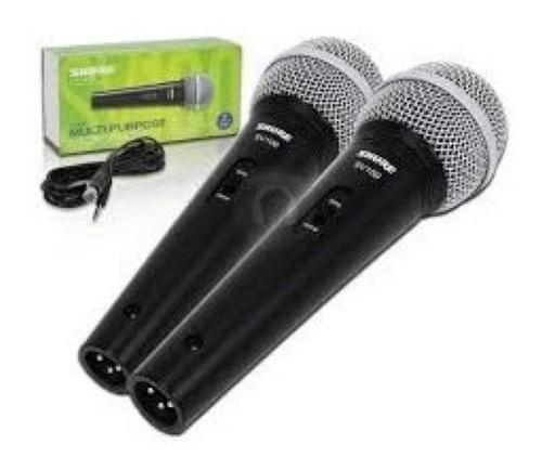 Combo 2 Microfonos Shure Sv100 Con Cable Envio Sin Cargo