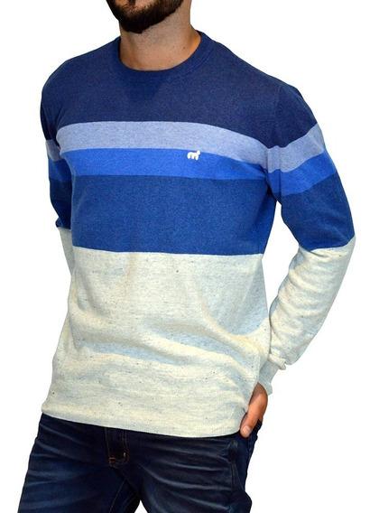 Sweater Pullover Rayado Algodón 14688n-3 Hombre Mistral