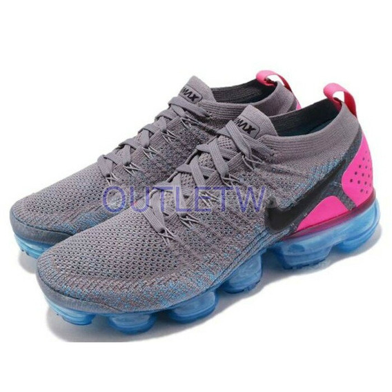 Tenis Nike Vapormax Flyknit 2.0 Air Original Gray And Pink