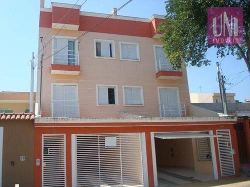 Cobertura Com 2 Dormitórios À Venda, 80 M² Por R$ 315.000,00 - Parque Erasmo Assunção - Santo André/sp - Co0369