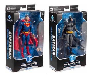 Batman & Superman Set De 2 Figuras Dc Multiverse Mcfarlane