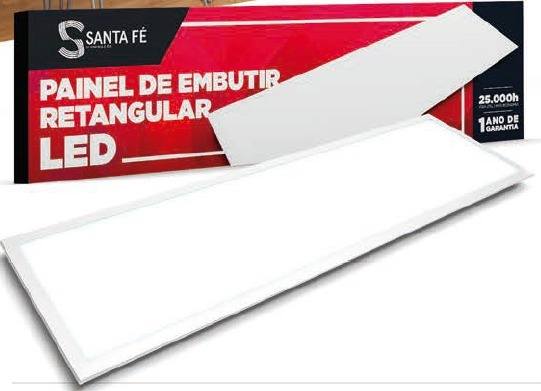 Painel Retangular Led 15x120 36w Embutir
