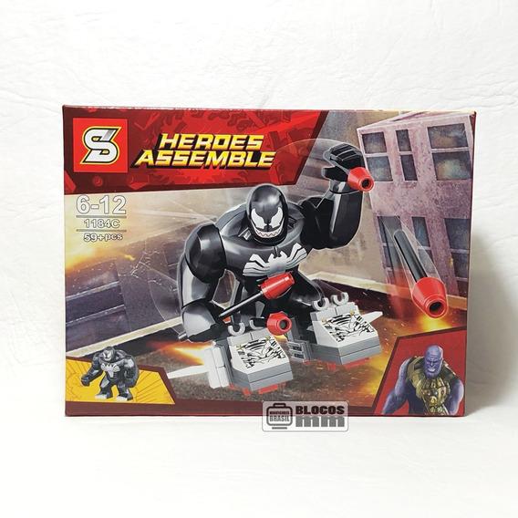 Boneco Venom Big Figure Vingadores Homem Aranha Blocos