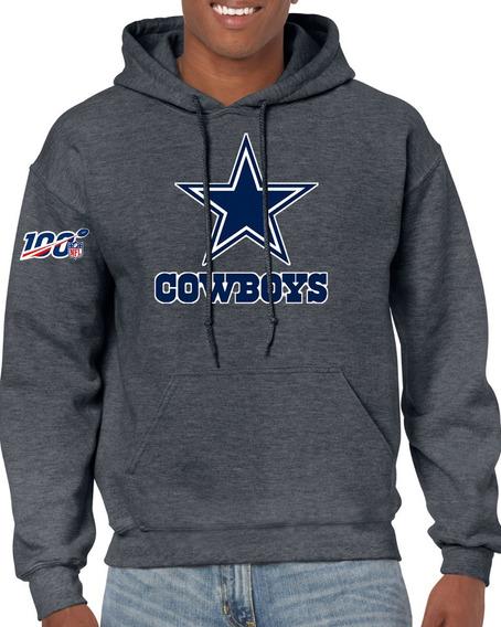 Sudadera Con Capucha De Los Vaqueros De Dallas Cowboys Con Logo Nfl 100 Aniversario