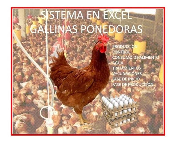 Gallinas Ponedoras Sistema De Control En Excel+libro