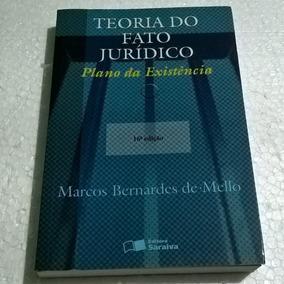 Livro Teoria Do Fato Jurídico - Plano Da Existência - 16ª Ed