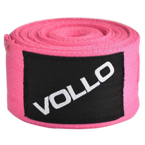 Bandagem Elástica 3m Rosa Vollovfg115