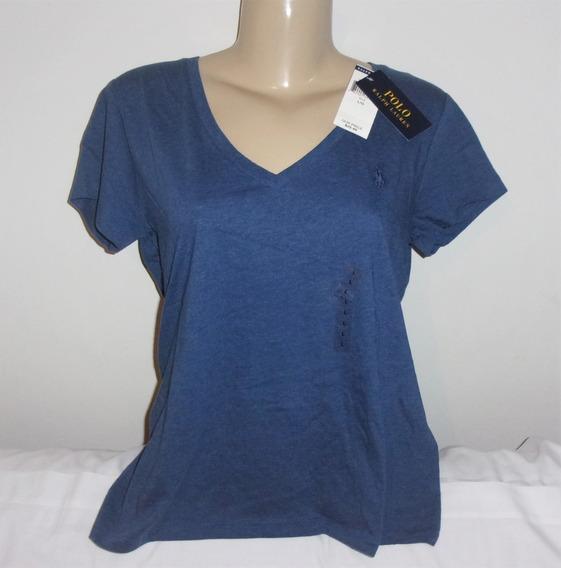 Camiseta Feminina Ralph Lauren L (brasil G) Original Nova