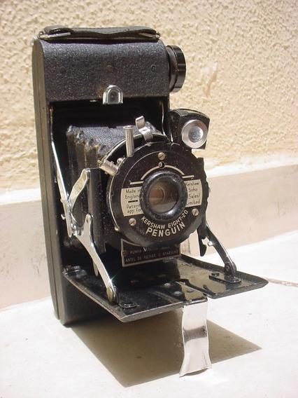 Antiga - Câmera Fotográfica Analógica De Fole Penguin 1951.