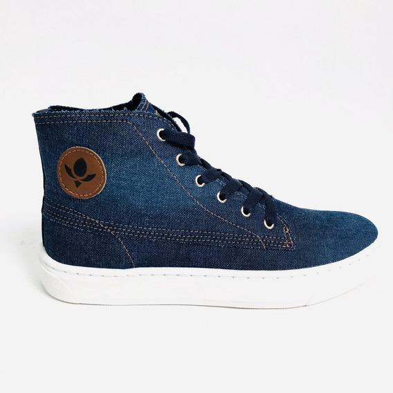 Tênis Cravo E Canela Otinha Jeans Azul Feminino