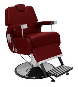 Cadeira Barbeiro Base Preta Reclinável Sevilha - Marri