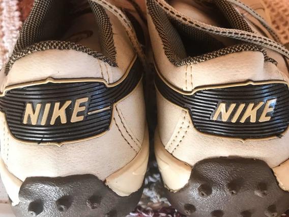 Sapatênis Nike Original Outro Samello Couro Desapego