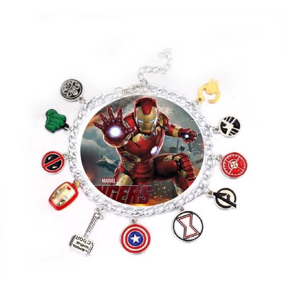 Pulseira Vingadores / Avengers - Ajustável Pronta Entrega