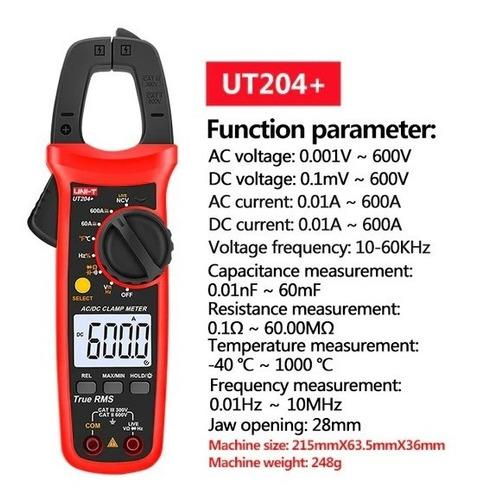 Multimetro De Pinza Amperimetrica Uni-t Ut204+ Original 2021