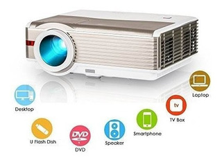 Proyector De Video Hd Lcd 4200 High Lumen Cine En Casa Teatr