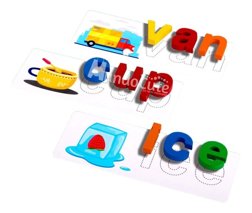 Imagen 1 de 8 de Abecedario Montessori Juego Aprendizaje Niños Letras Didácti