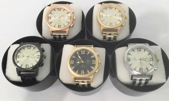 Kit 5 Relógios Da Moda Pulseira Borracha Atacado Barato