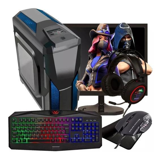 Pc Gamer A8 /8gb Ram/ Hd 500gb/monitor 19/kit Gamer + Jogos