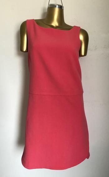 Vestido Shift Dress Salmón Ann Taylor Talla 12 (l)