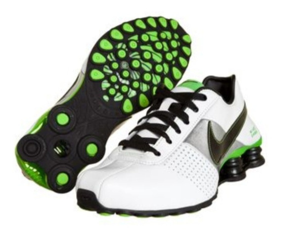 Tênis Nike Shox Deliver Branco Preto Verde Original