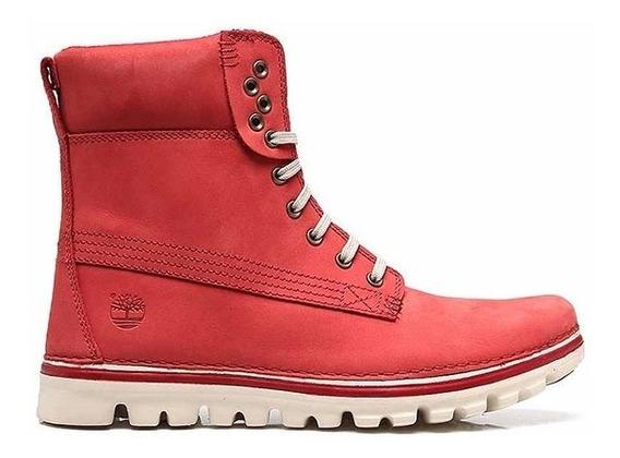 Botas Timberland Mujer Brookton Rojo A141g Look Trendy
