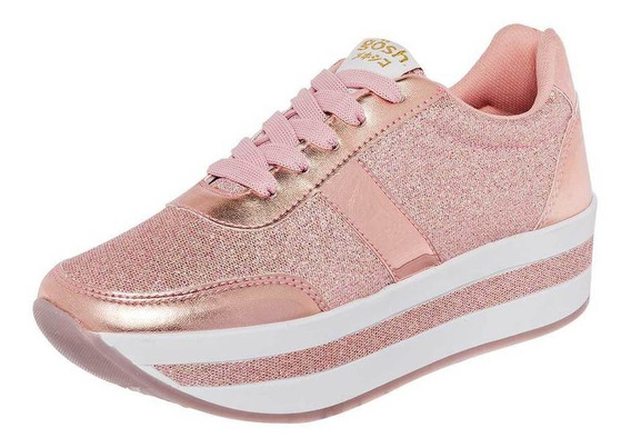 Tenis Gösh Mujer 034he-01 Color Oro Talla 22-26 -shoes