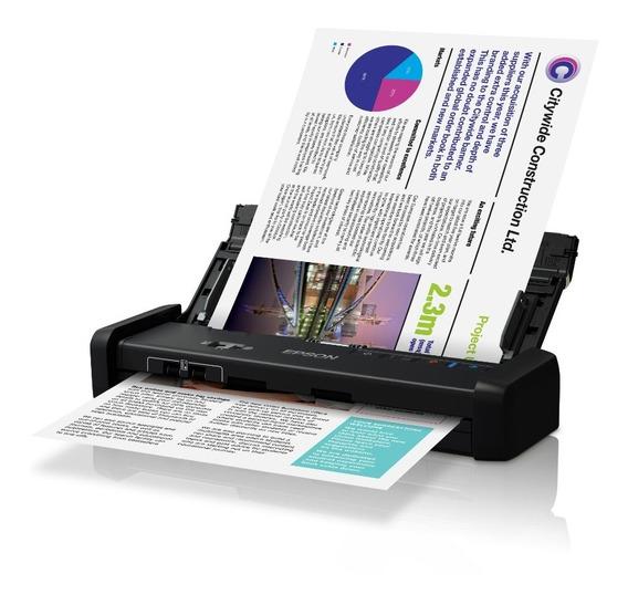 Escáner Epson Ds-320 Dúplex Portátil Negro