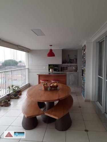 Imagem 1 de 30 de Apartamento Com 3 Dormitórios À Venda, 137 M² Por R$ 1.250.000,00 - Água Rasa - São Paulo/sp - Ap6206