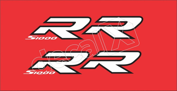 Emblema Adesivo Bmw S1000rr Vermelha Par Bws1000rr1