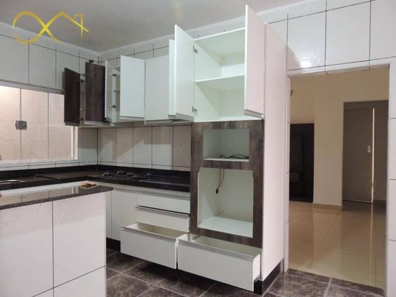 Casa Térrea Com Salão À Venda, 250 M² - Vila Nunes - Paulínia/sp - Ca0939