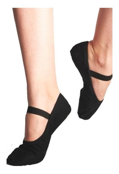 Sapatilha Original Capezio - Preta Tecido - Ballet Bailarina