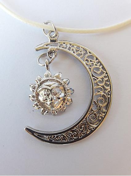 Colar Sou Luna Sol E Lua + Brinde