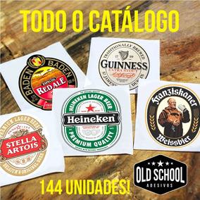Adesivos De Cervejas Importadas E Nacionais Kit 144 Unidades