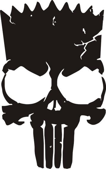 Calavera Calcomanía Punisher 08 - 28 X 18 Cm. Graficastuning
