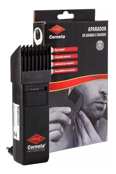 Aparador Barba Máquina Cabelo Bigode Corneta 110/220 Bivolt
