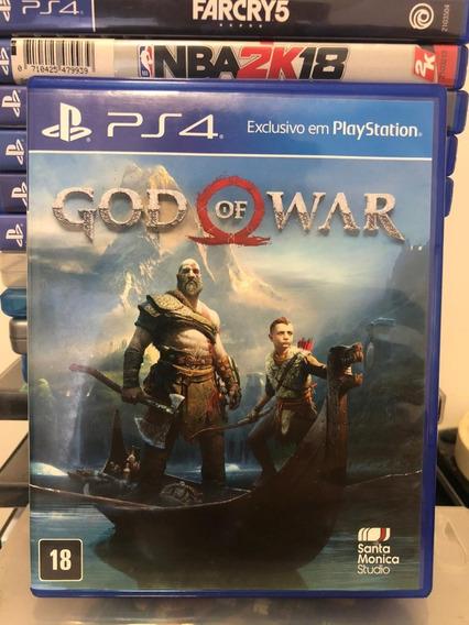 Jogo God Of War 4 Ps4 Mídia Física Capa Azul 100% Português