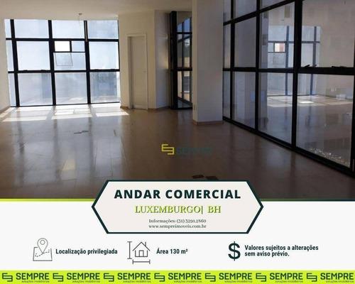 Imagem 1 de 17 de Andar Corporativo À Venda, 130 M² - Luxemburgo - Belo Horizonte/mg - Ac0102