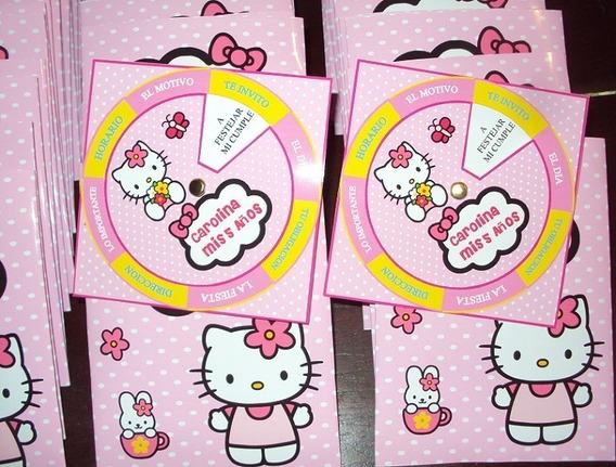 Hello Kitty Tarjetas Invitaciones Personalizadas X 25