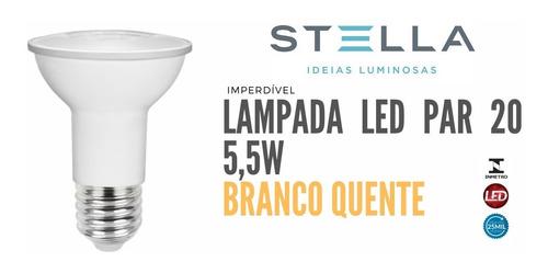 Imagem 1 de 5 de Lampada Par 20 Stella 5,5w 3000k Branco Quente - Sth9020/27