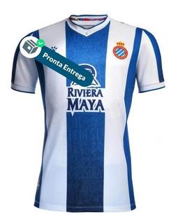 Camisa Espanyol 19/20 Uni. 1 - Pronta Entrega