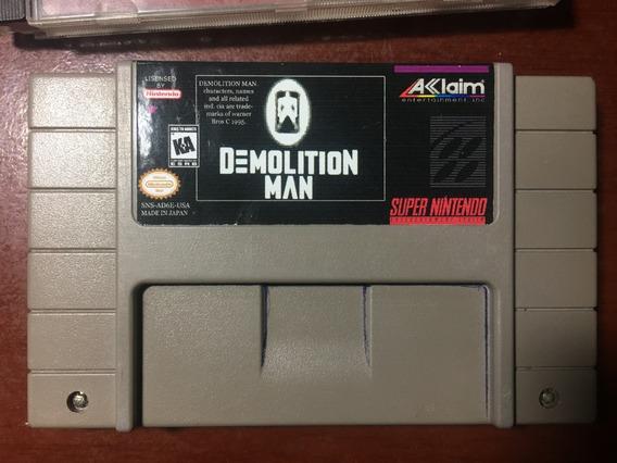 Demolition Man Original Para Super Nintendo (relabel)