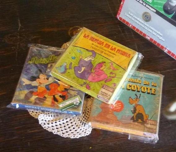 Vintage X3 Peliculas Disney Super 8 Buen Estado (2227)