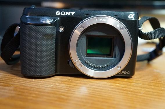 Câmera Sony Mirrorless Nex F3 16.1mpx Full Hd Apenas O Corpo